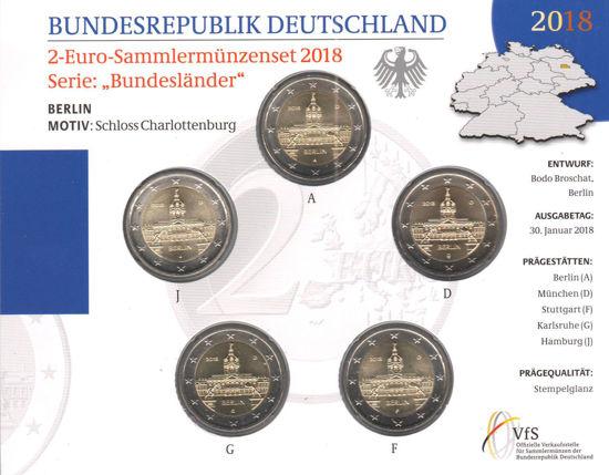 Picture of Германия 2 евро 2018, Федеральные земли Германии: Берлин (в блистере)