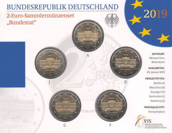 Picture of Німеччина 2 євро 2019, Бундесрат (в блістері)
