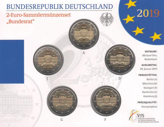 Picture of Германия 2 евро 2019, Бундесрат (в блистере)