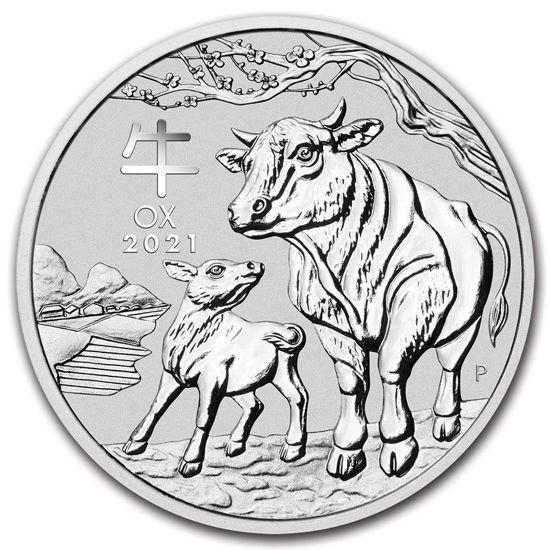 "Picture of Срібна монета Австралії ""Lunar III - Рік Бика"" 31,1 грам 2021 р."
