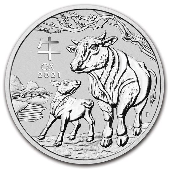 "Picture of Серебряная монета Австралии ""Lunar III - Год Быка"" 1000 грамм 2021 г."