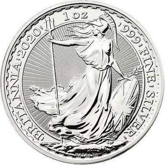 Picture of Великобританія 1 унція Срібло Британія 2020 Britannia (1oz)