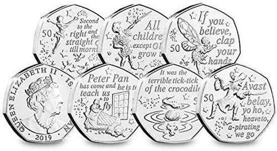 Picture of Острів Мен 50 пенсів 2019, Набір 6 монет, Пітер Пен