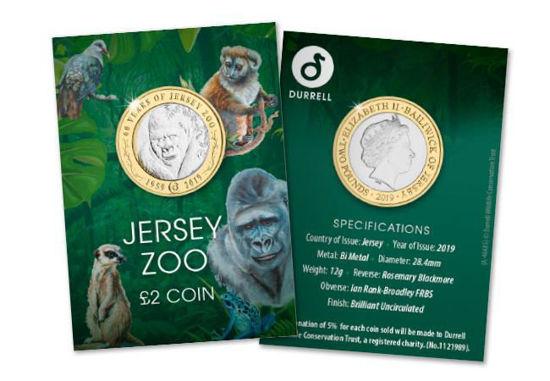 Picture of Джерсі 2 фунта 2019, 60 років Джерсійський зоопарку