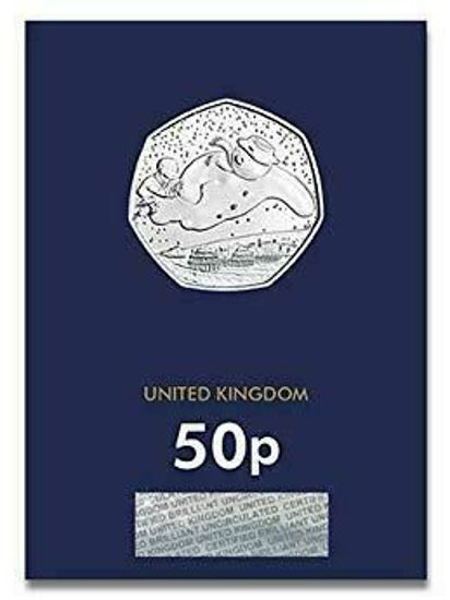 Picture of Англия, Великобритания 50 пенсов 2018.  Снеговик (І тип). Блистер, BU