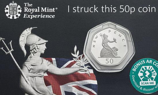 Picture of Англия, Великобритания 50 пенсов 2019. 50 лет 50 пенсам. Блистер, BU