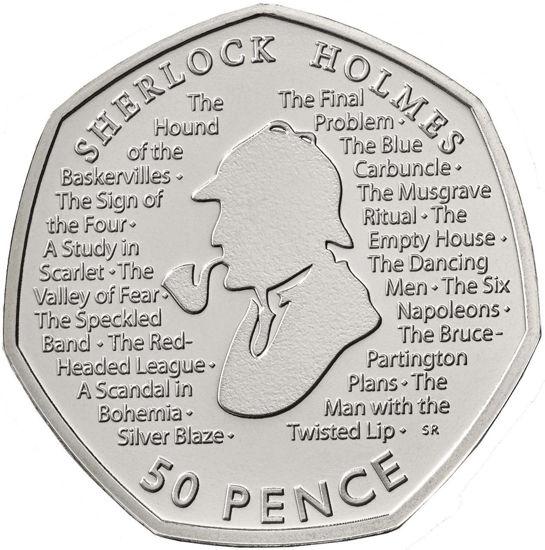 Picture of Англія, Великобританія 50 пенсів 2019. Шерлок Холмс