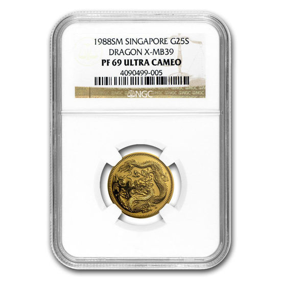 "Picture of Золота монета ""Сінгапурський Дракон"" 7,78 грам 1988 р."