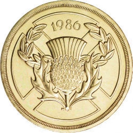 Picture of Англия, Великобритания 2 фунта 1986. XIII Игры Содружества. Эдинбург, Шотландия. BU