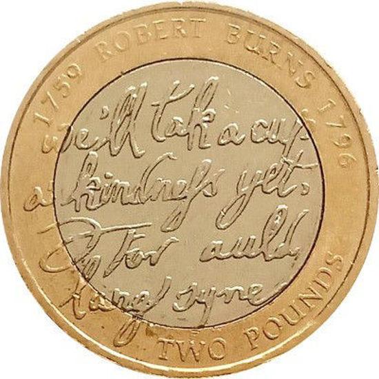 Picture of Англія, Великобританія 2 фунта 2009. 200 років від дня народження Роберта Бернса