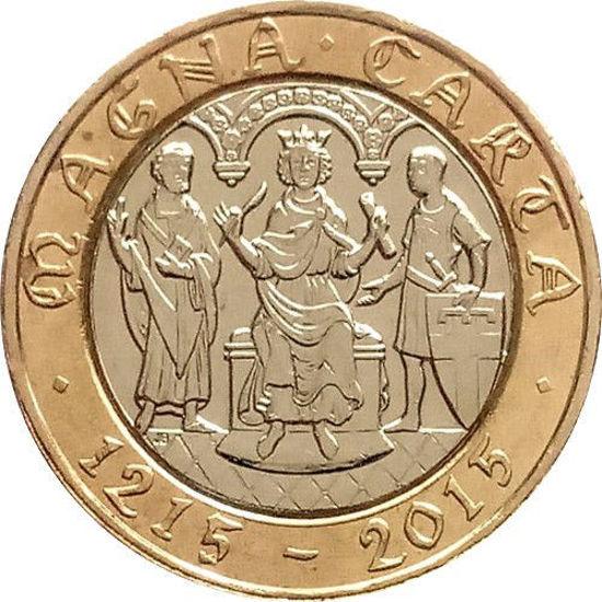 Picture of Англия, Великобритания 2 фунта 2015. 800-летие Великой хартии вольностей. 5й Портрет