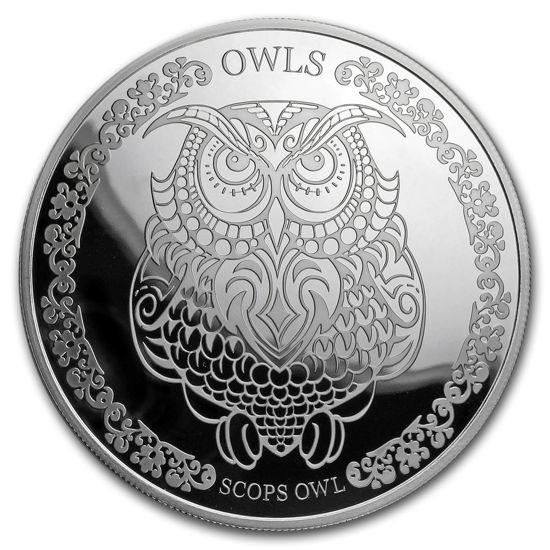 """Picture of Срібна монета """"Сова - Мудрість сов"""" 31.1 грам Токелау"""