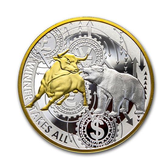 """Picture of Срібна монета """"Переможець забирає все"""" 31.1 грам Камерун"""