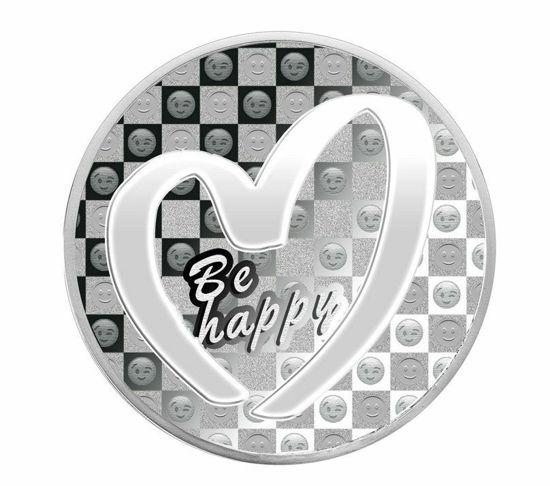 "Picture of Срібна монета ""Будь щасливий - Be Happy"" 31.1 грам 2019 р. Камерун"