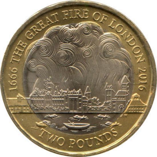 Picture of Англия, Великобритания 2 фунта 2016. 350 лет Великому Лондонскому пожару