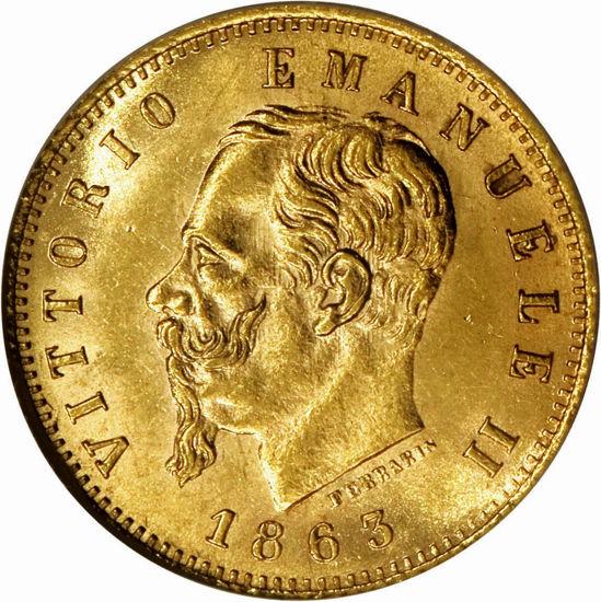 """Picture of Золота монета """"20 лір Вітторіо Емануеле II"""" Італія 6,45 грам"""