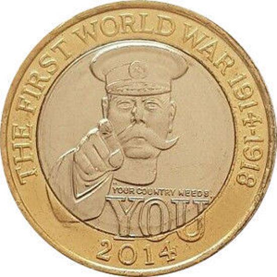 Picture of Англия, Великобритания 2 фунта 2014. 100 лет Первой мировой войны