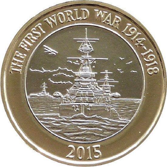 Picture of Англія, Великобританія 2 фунта 2015. Королівський флот Великобританії