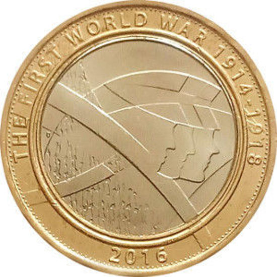 Picture of Англия, Великобритания 2 фунта 2016. Первая мировая война. Армия Великобритании