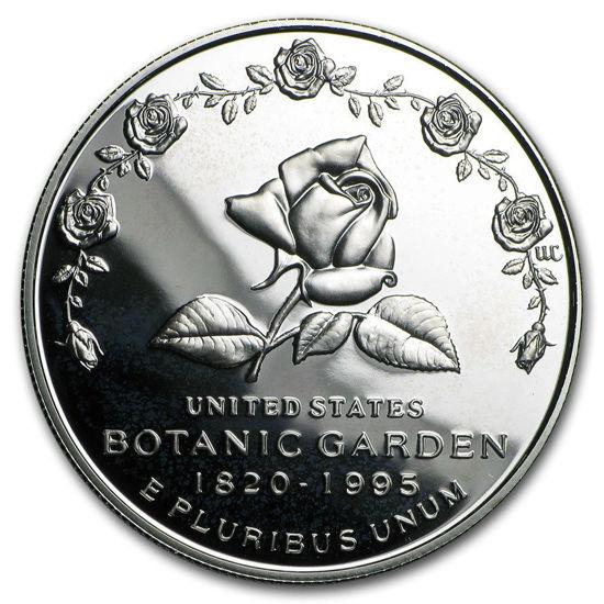 """Picture of  Срібна монета """"Ботанічний сад - 175 років"""" 1 долар США Proof"""