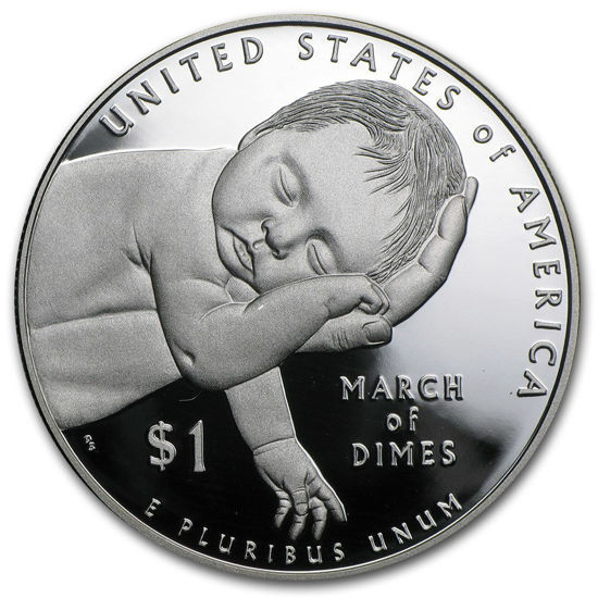 "Picture of Серебряный доллар ""March of Dimes"" 2015 США"