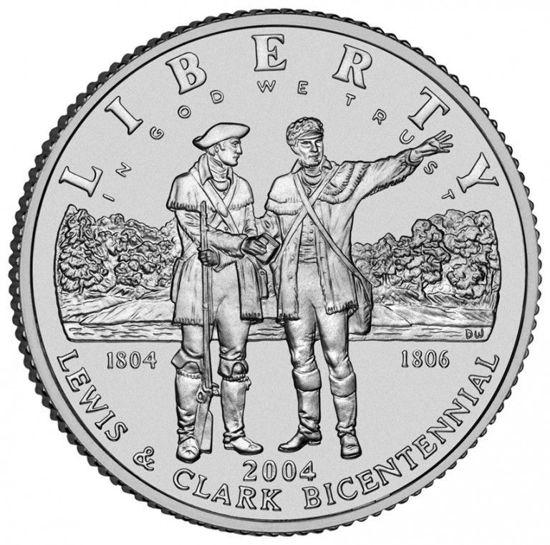 "Picture of Срібна монета ""Liberty - Льюїс і Кларк"" 1 долар США 2004"