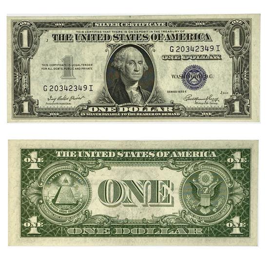 """Picture of 1 доллар США номиналом 1935  """"номер и серия - рандомный"""""""