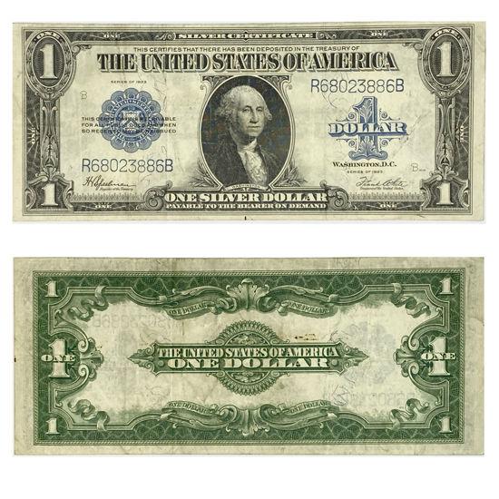 """Picture of 1 доллар США номиналом 1923  """"номер - R 68023886 B"""""""