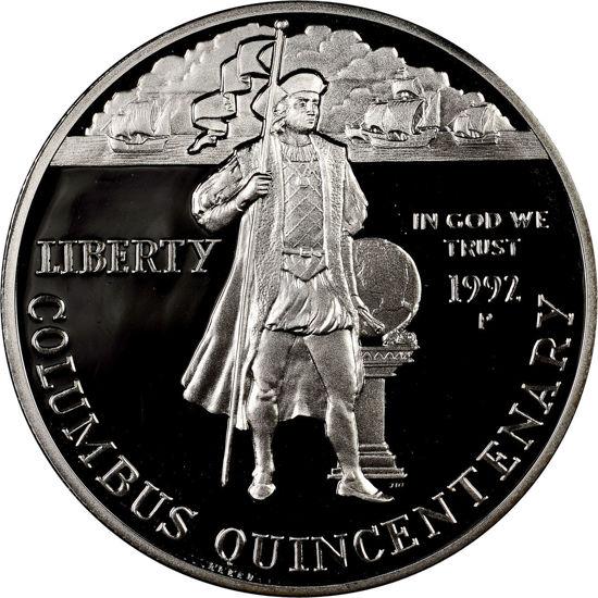 "Picture of Срібна монета ""Liberty - п'ятсотліття Колумба"" 1 долар США 1992"
