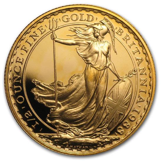 """Picture of Золота монета """"Британія """"1/2 унції 1988 рік"""