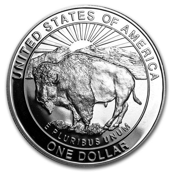 "Picture of Серебряная монета ""Liberty - Йеллоустон"" 1 доллар США 1999 Proof"