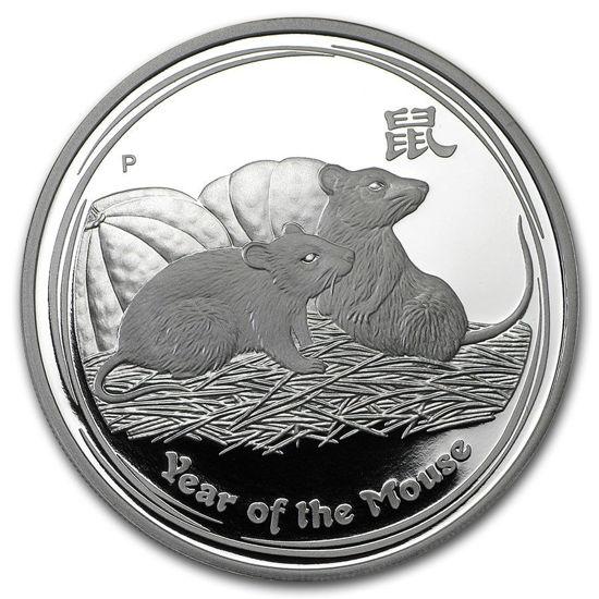 "Picture of Серебряная монета ""Год Крысы"" Proof 1 доллар  Австралия. 31,1 грамм"