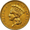 "Picture of  Золота монета ""Три долара"" 5,01 грам США 1855 р"