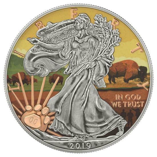 """Picture of Срібна монета """"Американський орел - Liberty Вітряна печера"""" США 2019 р"""