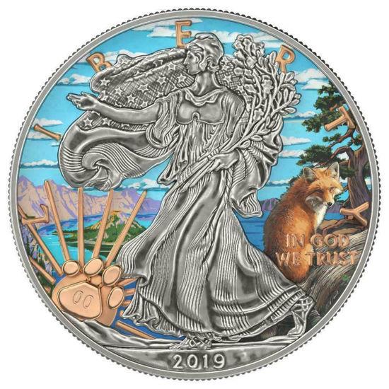 "Picture of Серебряная монета ""Американский орел - Liberty Озеро Кратер"" США 2019 г."
