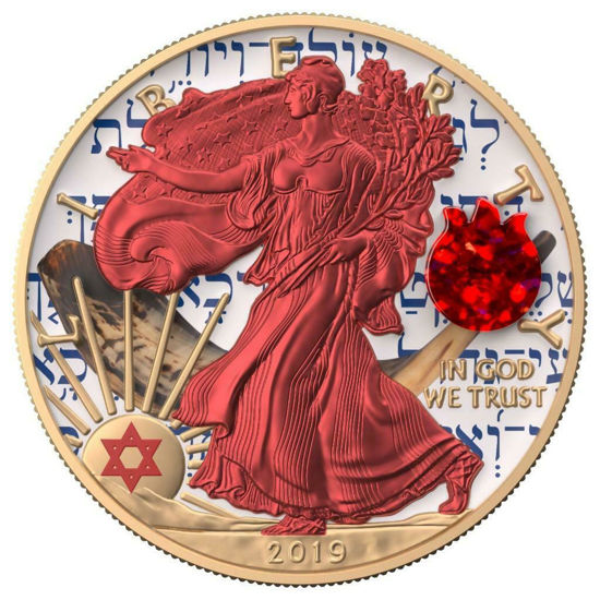 "Picture of Срібна монета ""Американський орел Liberty - Єврейське свято Рош ха-Шана"" 31.1 грам 2019 р. США"
