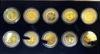 """Picture of Набір """"Історична колекція США"""" з десяти монет чверті долара з 24-каратною позолотою 1999р.-2000р. монетний двір Морган"""