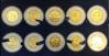 """Picture of Набор """"Историческая коллекция США"""" из десяти монет четверти доллара с  24-каратной позолотой  2003 г.-2004 г. монетный двор  Морган"""