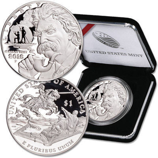 "Picture of Срібна монета ""Liberty - Марк Твен"" 1 долар США 2016"