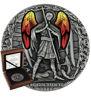 """Picture of Серебряная монета с витражами """"Архистратиг Михаил"""" Ангел. Архангел.  62,2 грамм 2020 г."""