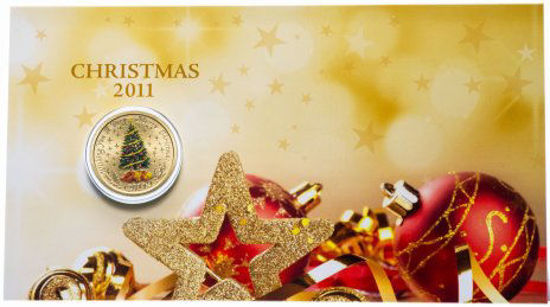 Picture of Австралія 1 долар, Щасливого Різдва! Різдвяна ялинка