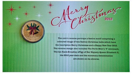 Picture of Австралия 1 доллар, Счастливого Рождества!  Рождественские Колокольчики