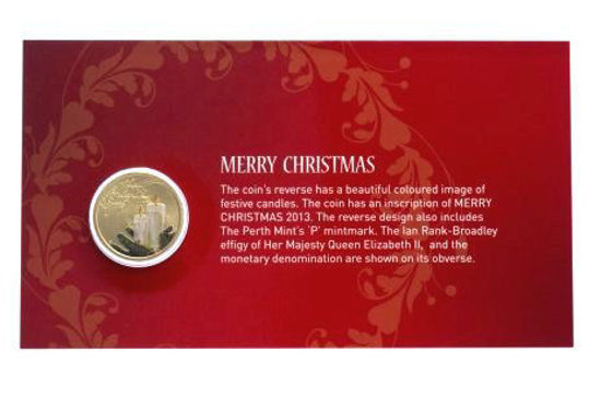 Picture of Австралия 1 доллар, Счастливого Рождества!  Рождественские Свечи