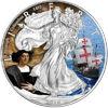 """Picture of Срібна монета """"Американський орел Liberty - Колумб"""" 31.1 грам 2016 р. США"""
