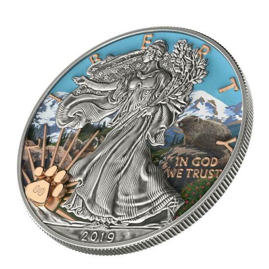 "Picture of Серебряная монета Liberty ""Национальный парк Маунт-Рейнир"" 31.1 грамм 2019 США"