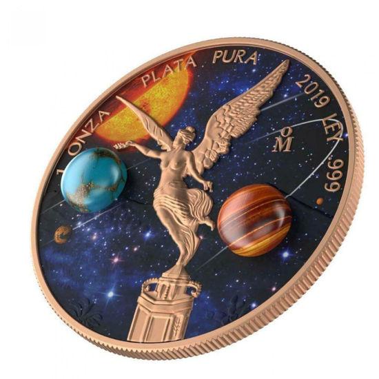 "Picture of Серебряная монета ""Мексиканский Libertad  - Астрономия"" 31,1 грамм 2019 г."