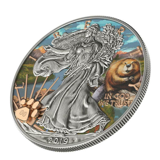"""Picture of Срібна монета Liberty """"Національний парк Рокі-Маунтін"""" 31.1 грам 2019 США"""
