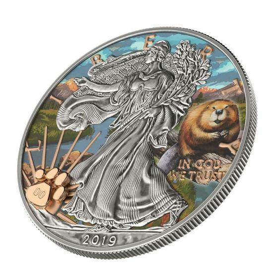 "Picture of Серебряная монета Liberty ""Национальный парк  Роки-Маунтин"" 31.1 грамм 2019 США"