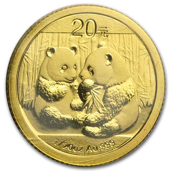 """Picture of Золота монета """"Китайська Панда"""" 1.555 грам 2009 р."""