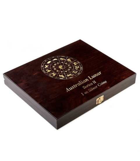 Picture of Дерев'яна подарункова коробка 1 oz - серія «Австралійський Lunar II» для 12-ти монет